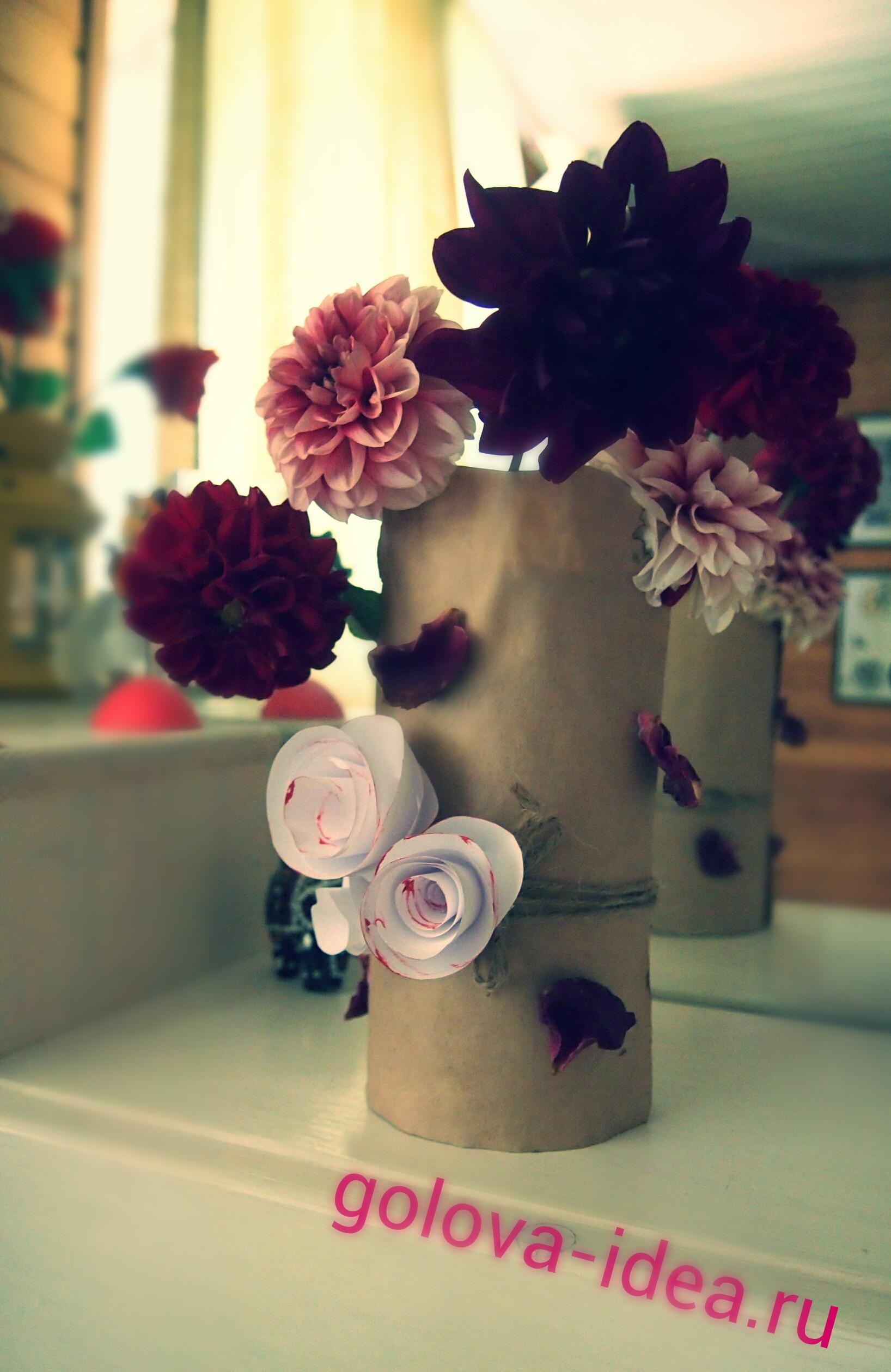 поделка вазочка своими руками
