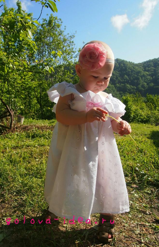 Платье для девочки без выкройки
