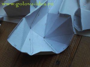 голова единорога из бумаги шаблон