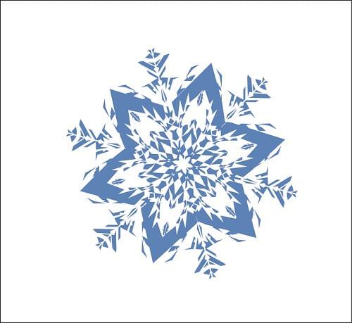 для квеста записка снежинка