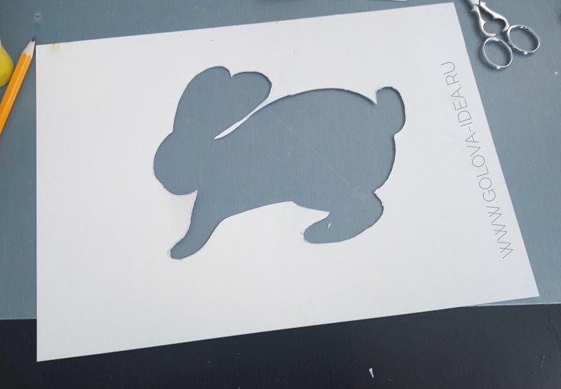 аппликация зайчик из бумаги